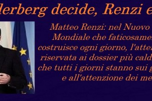 Renzi a servizio del Bilderberg